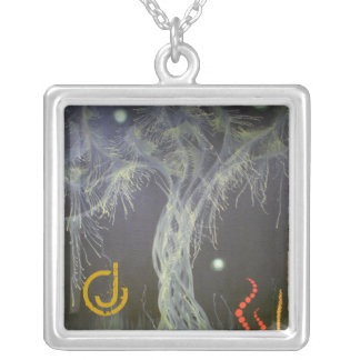 Dancing Tree Square Pendant Necklace