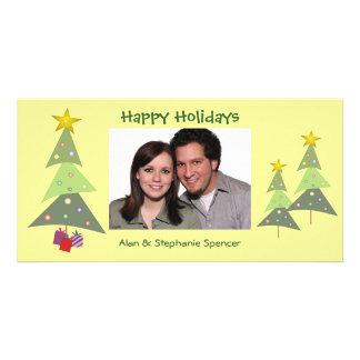 Dancing Trees Holiday Photo Card