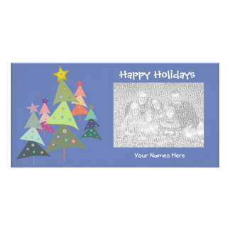 Dancing Trees Holiday Photo Card