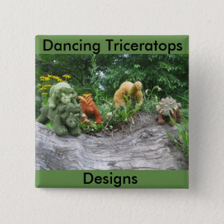 Dancing Triceratops Designs pin-back button