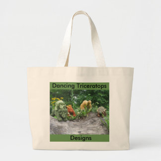 Dancing Triceratops Designs tote bag