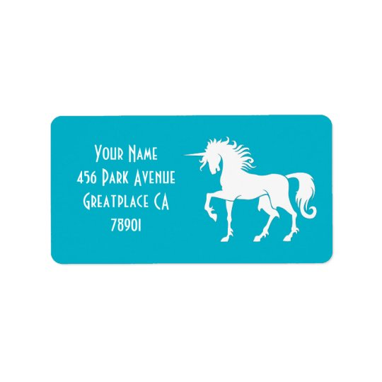 Dancing Unicorn Silhouette Address Lable Label