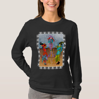Dancing Witches on Black T-Shirt
