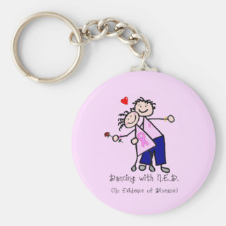 Dancing with N.E.D. - Breast Cancer Pink Ribbon Key Chains