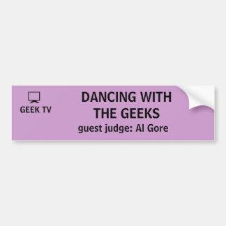 Dancing With the Geeks - a GEEK TV bumper sticker