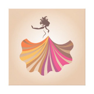 Dancing Woman Canvas Print