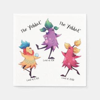 Dancing Yabbuts napkins Disposable Serviettes