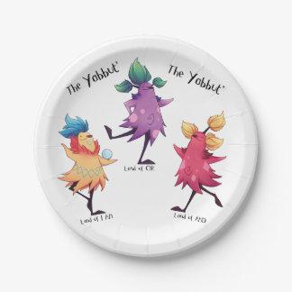 Dancing Yabbuts Paper Plates