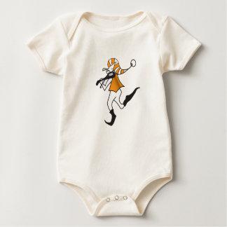 Dancing Yellow Elf Baby Bodysuit