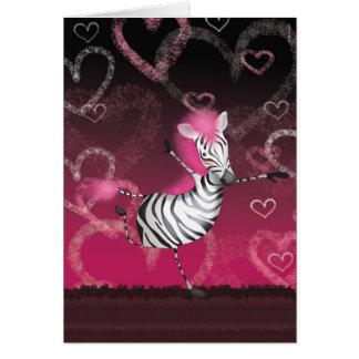 Dancing Zebra Card
