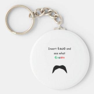 DancingMustache Taco Keychains