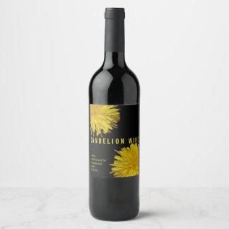 Dandelion 1 | Home Brewed Dandelion Wine Custom Wine Label