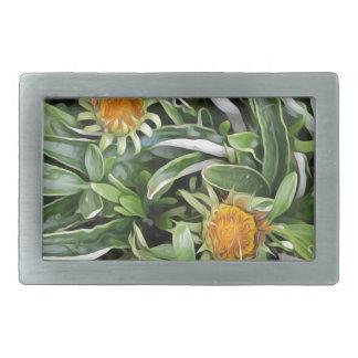 Dandelion a la Van Gogh Rectangular Belt Buckle