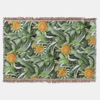 Dandelion a la Van Gogh Throw Blanket