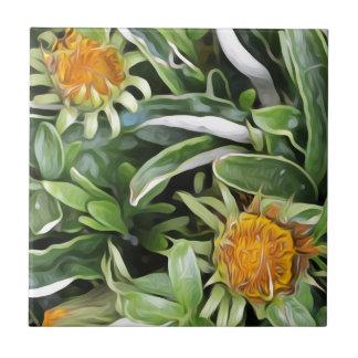 Dandelion a la Van Gogh Tile
