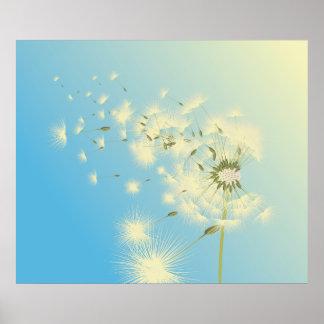 Dandelion Afternoon Poster