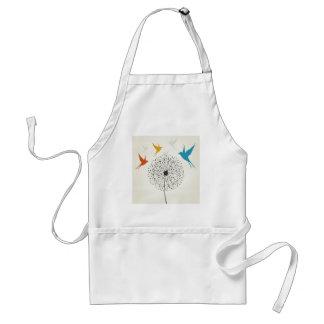 Dandelion and bird standard apron
