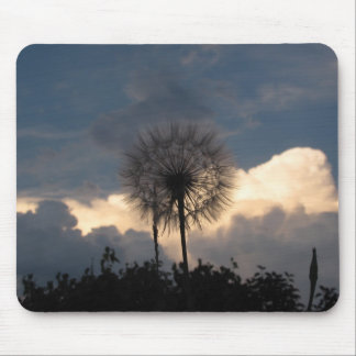 Dandelion and storm clouds mouse pad
