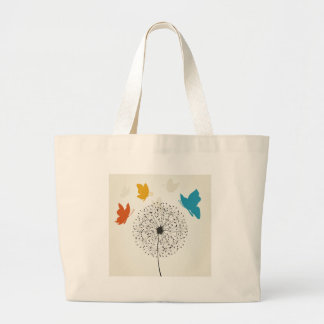Dandelion and the butterfly large tote bag
