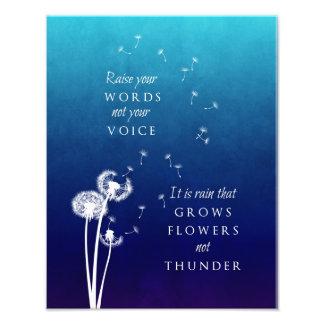 Dandelion Art - Raise your words Photo Print