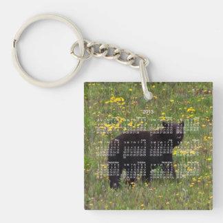 Dandelion Bear; 2013 Calendar Single-Sided Square Acrylic Key Ring