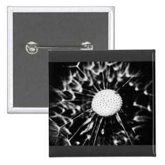 dandelion blacq 15 cm square badge
