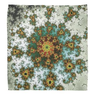 Dandelion Bloom - oriental fractal design Bandana