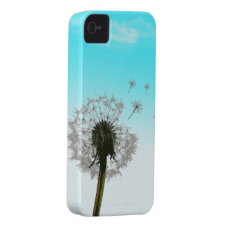 Dandelion blowing, seeds scattering iphone 4 case