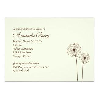 "dandelion bridal shower invitation 5"" x 7"" invitation card"