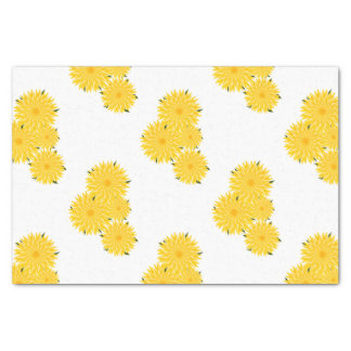 Dandelion bunch graphic pattern tissue paper