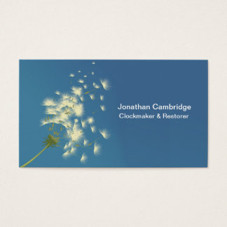 dandelion clock business card