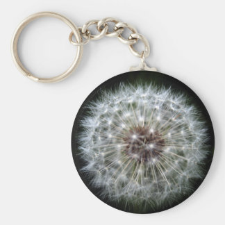 Dandelion Clock keychain