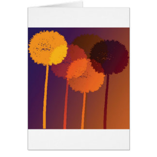 dandelion clocks card