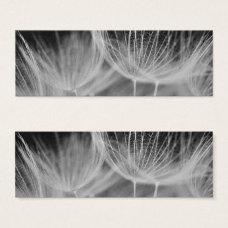 Dandelion Closeup in Black White Mini Business Card