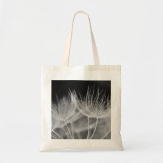 Dandelion Closeup in Black White Tote Bag
