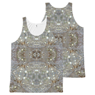 Dandelion Crystal design All-Over Print Singlet
