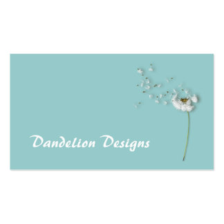 Dandelion Design Double-Sided Standard Business Cards (Pack Of 100)