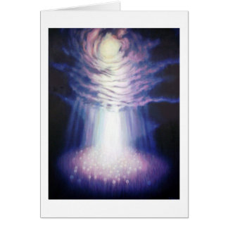 Dandelion Field Greeting Card with Deep Peace