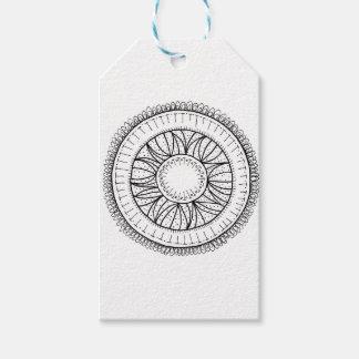 dandelion flower mandala gift tags