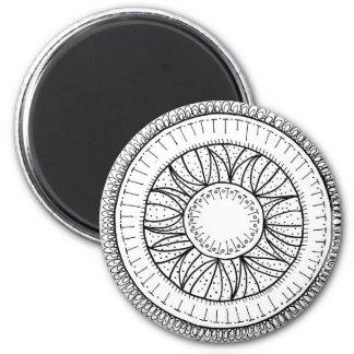 dandelion flower mandala magnet