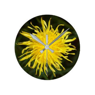 Dandelion Flower Round Clock