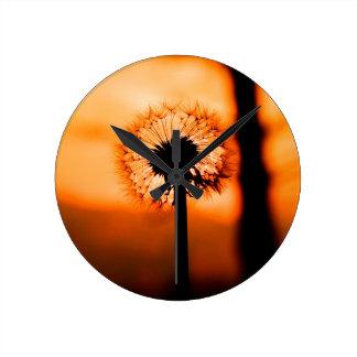 Dandelion Flower (Tooth of Leon) Round Clock