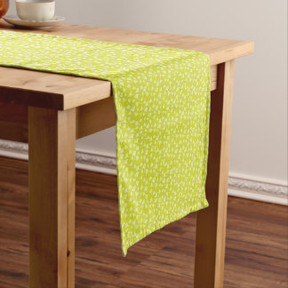 Dandelion flowers short table runner