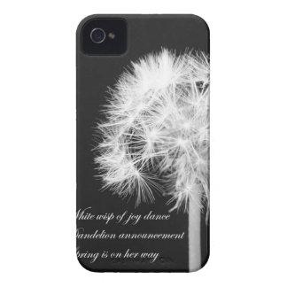 Dandelion Haiku Blackberry Case-Mate Case iPhone 4 Covers