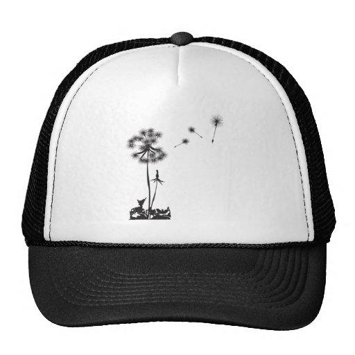 dandelion illustration hats