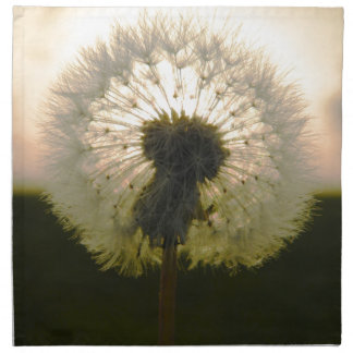 dandelion in the sun napkin