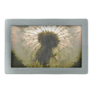 dandelion in the sun rectangular belt buckle