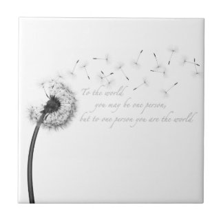 Dandelion Inspiration Ceramic Tile