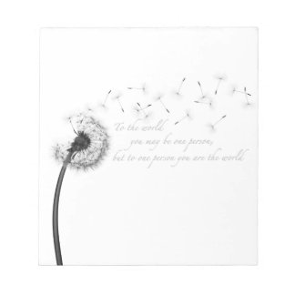 Dandelion Inspiration Notepad