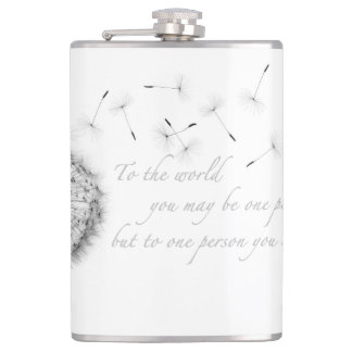 Dandelion Inspiration Vinyl Wrapped Flask